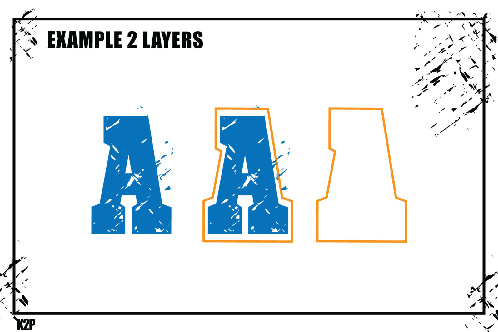 Grunge College 2 layers SVG Cut Files - GRUNGE COLLEGE AD12 -