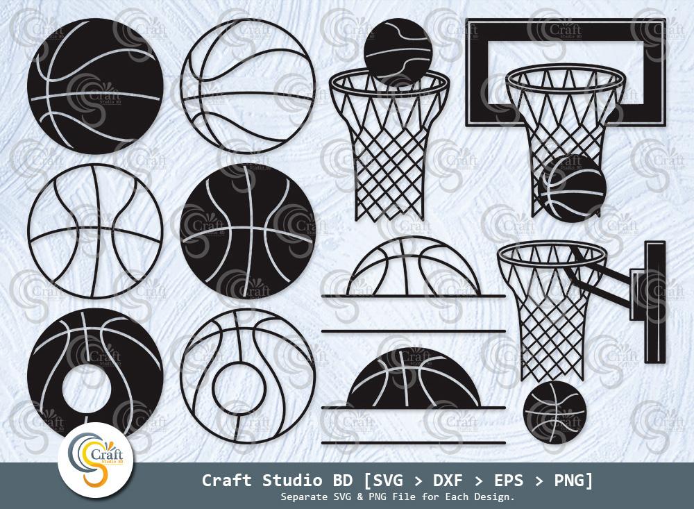 Basketball Silhouette, Basketball Svg, Basketball Hoop Svg, Basketball Bundle - Basketball -