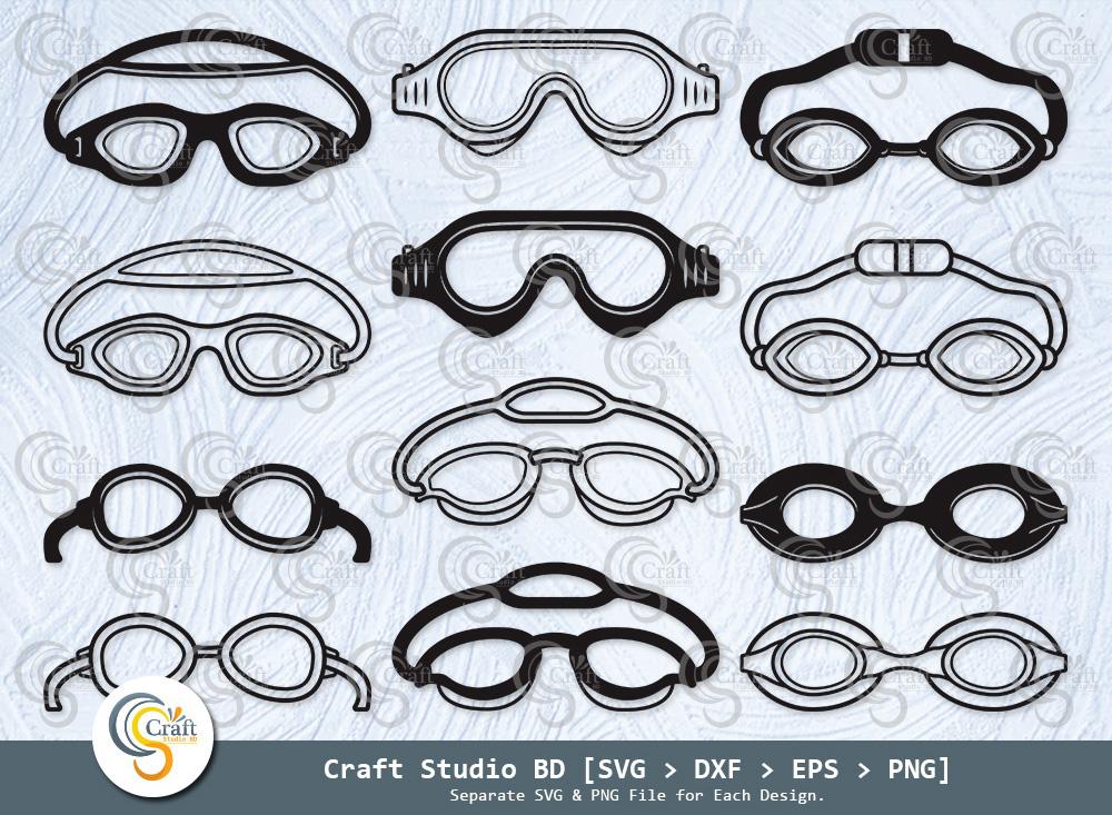 Swimming Goggles Silhouette, Swimming Goggles SVG, Swimming Goggles Bundle - Swimming Goggles -