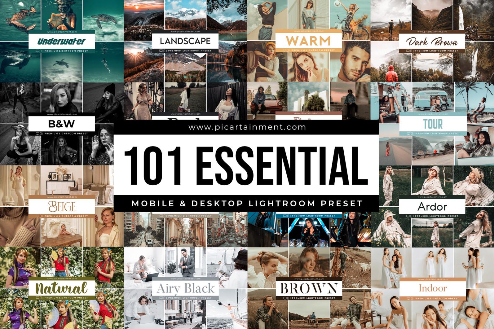101 Essential Lightroom Presets Bundle - Cover 3 -