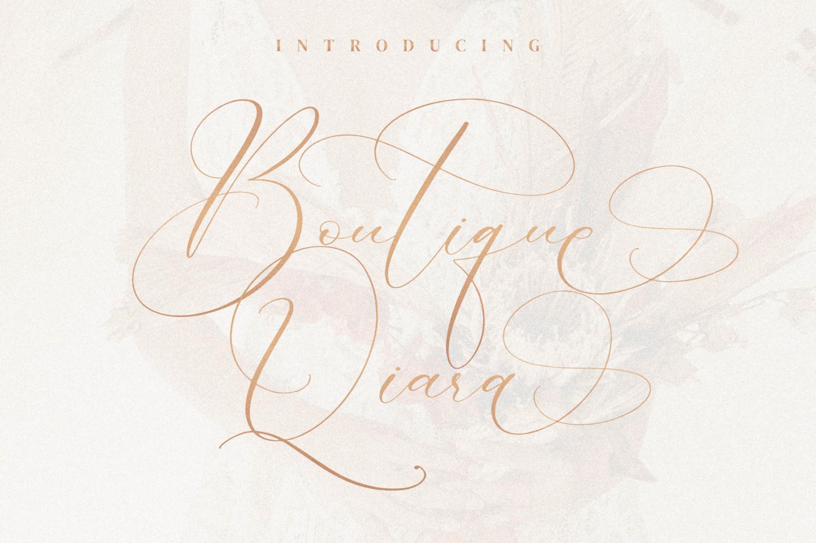 Boutique Qiara - Calligraphy Font - Boutique Q scaled -