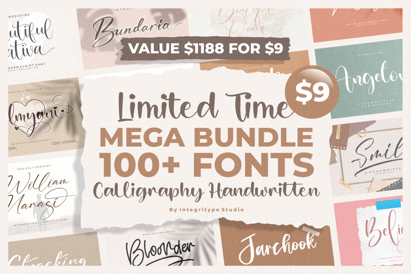 Spectacular All Collection Mega Font Bundle Handwritten - COVER1.png scaled -