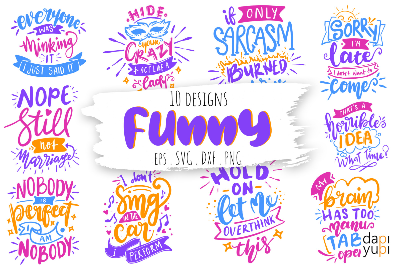 Funny Quotes Bundle SVG - funny11 -