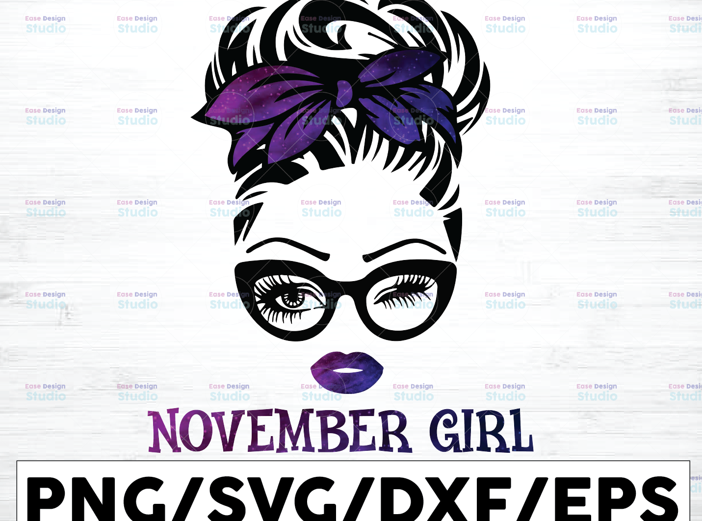 November Girl png, Messy Bun Birthday Png, Face Eys png, Winked Eye png, - WTMETSY16122020 01 73 -