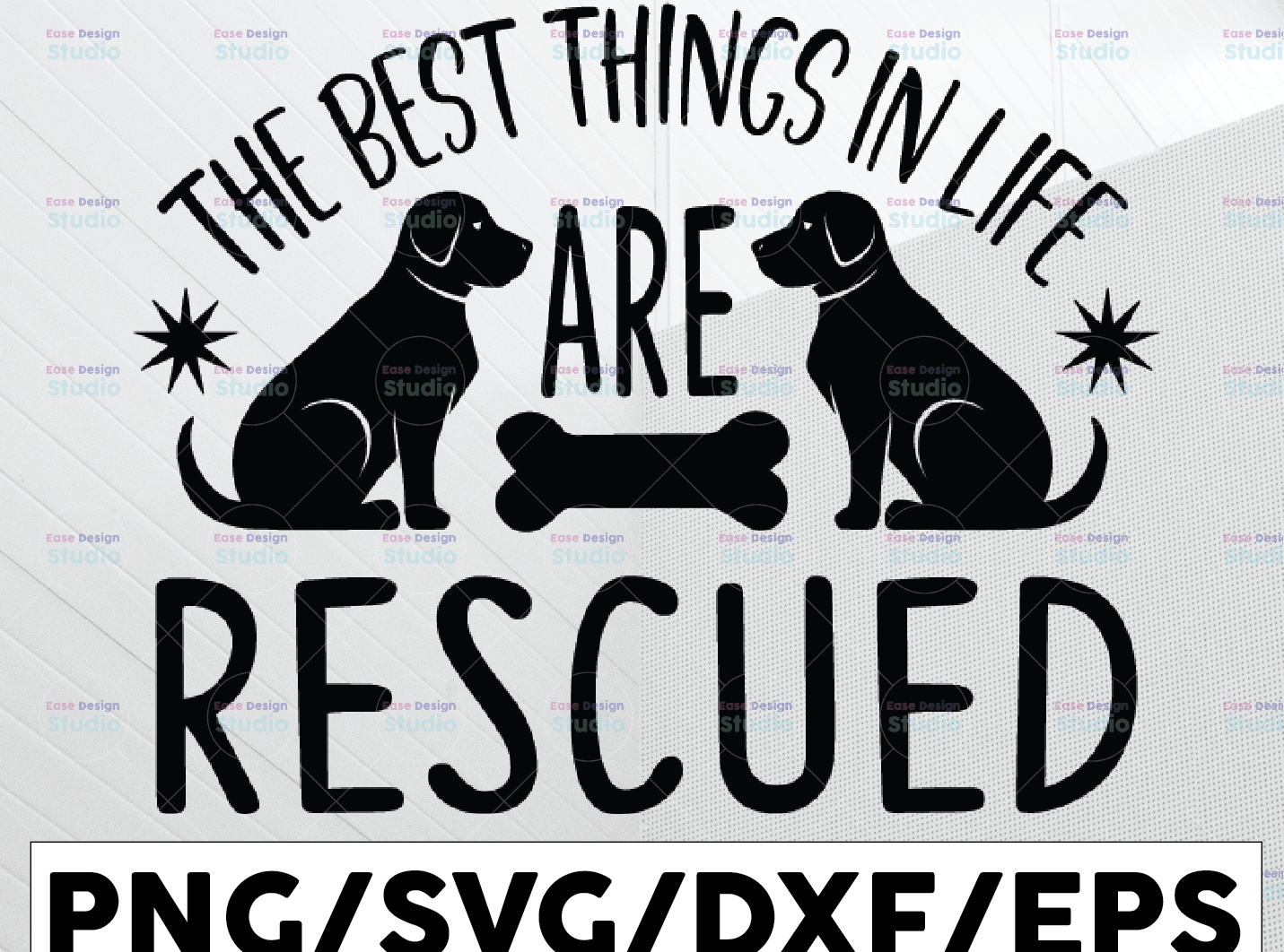 The Best Things In Life Are Rescued svg dxf eps png Files for Cutting Machines Cameo Cricut, - WTMETSY13012021 01 200 -