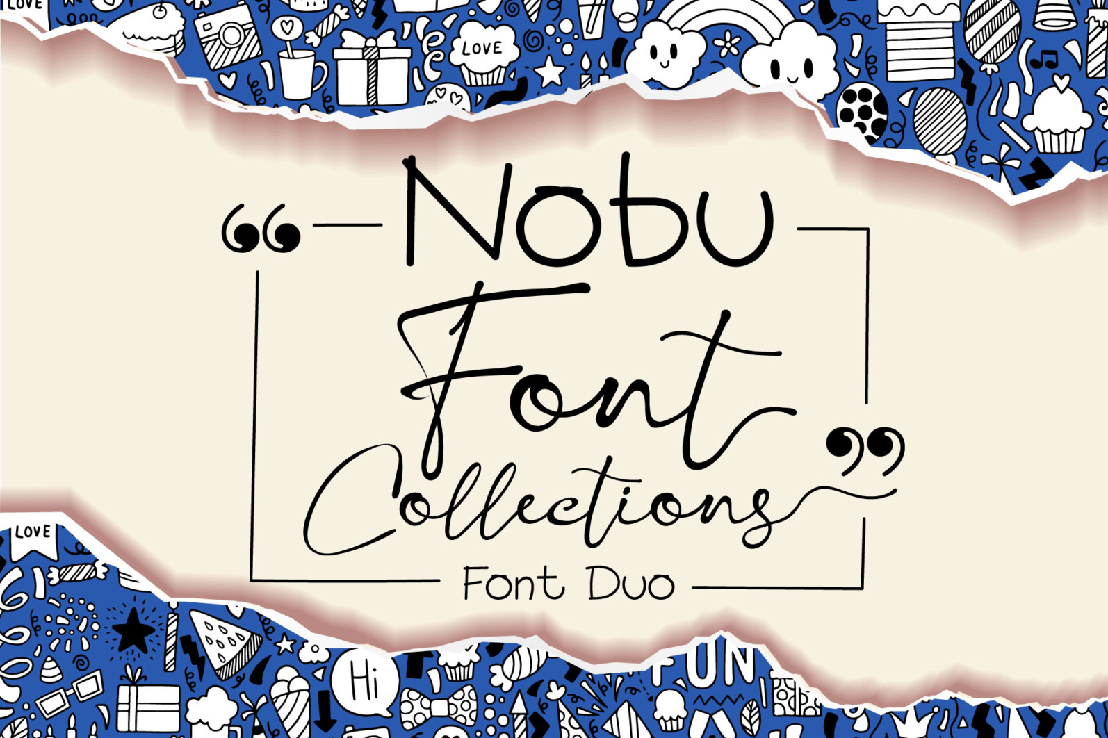 Nobu Collections - Font DUO1 -
