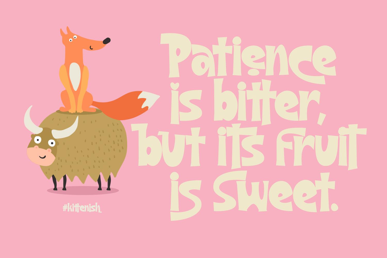 Kittenish - Playful Font - 2 14 -