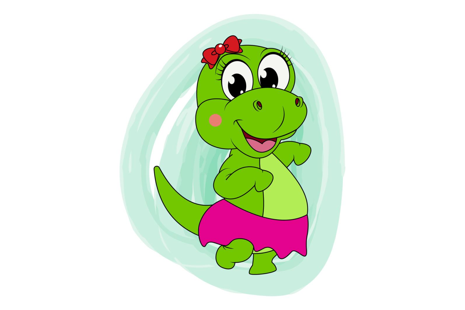 preety dinosaur animal cartoon illustration - dinosaur3 scaled -