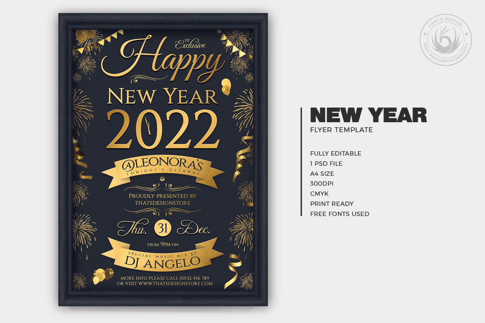 New Year Flyer Template V5 - 01 New Year Flyer Template V5 -