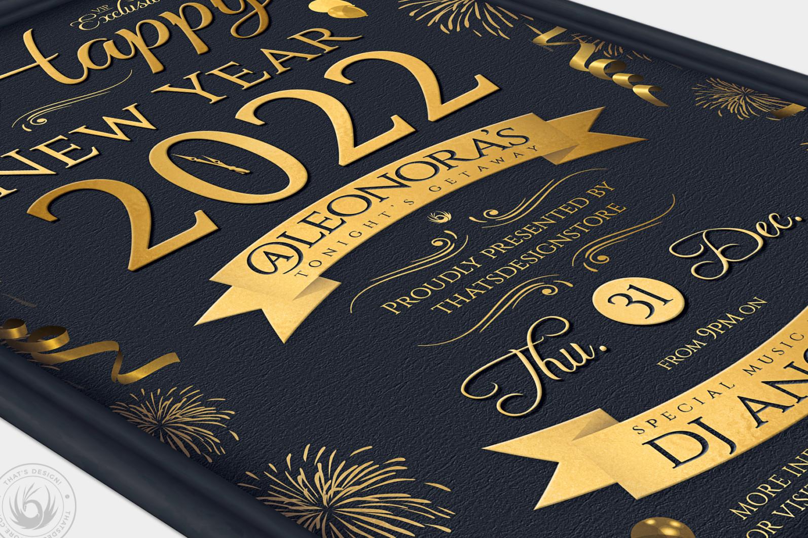 New Year Flyer Template V5 - 03 New Year Flyer Template V5 -