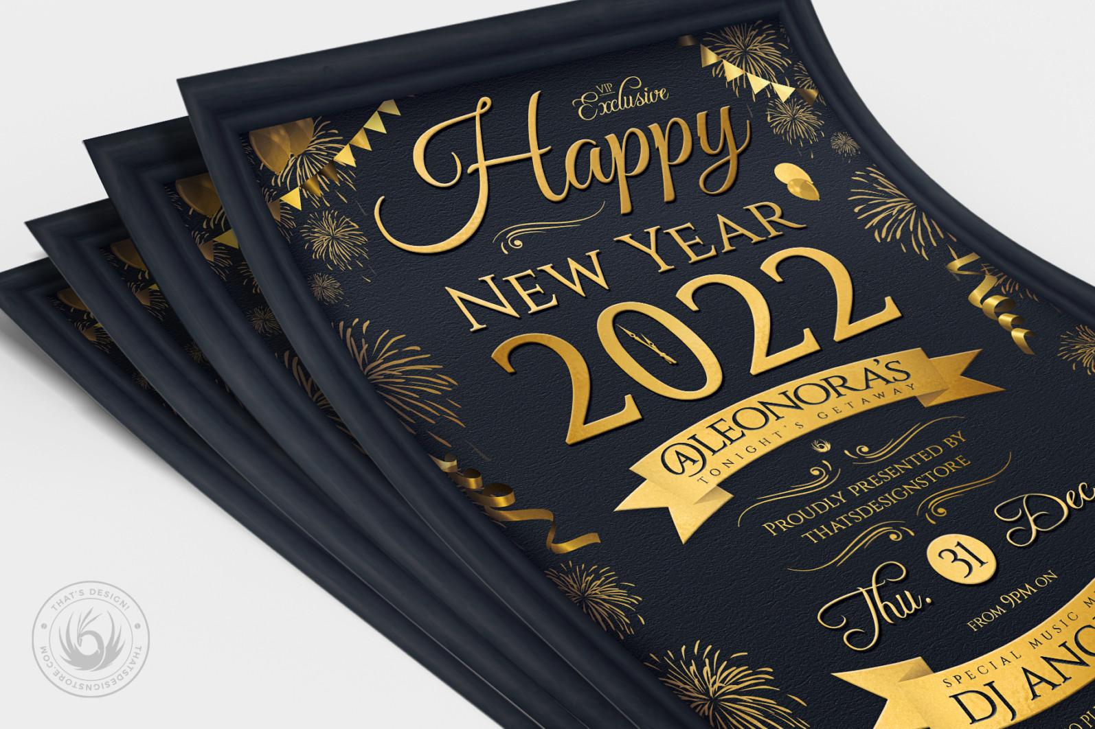 New Year Flyer Template V5 - 04 New Year Flyer Template V5 -