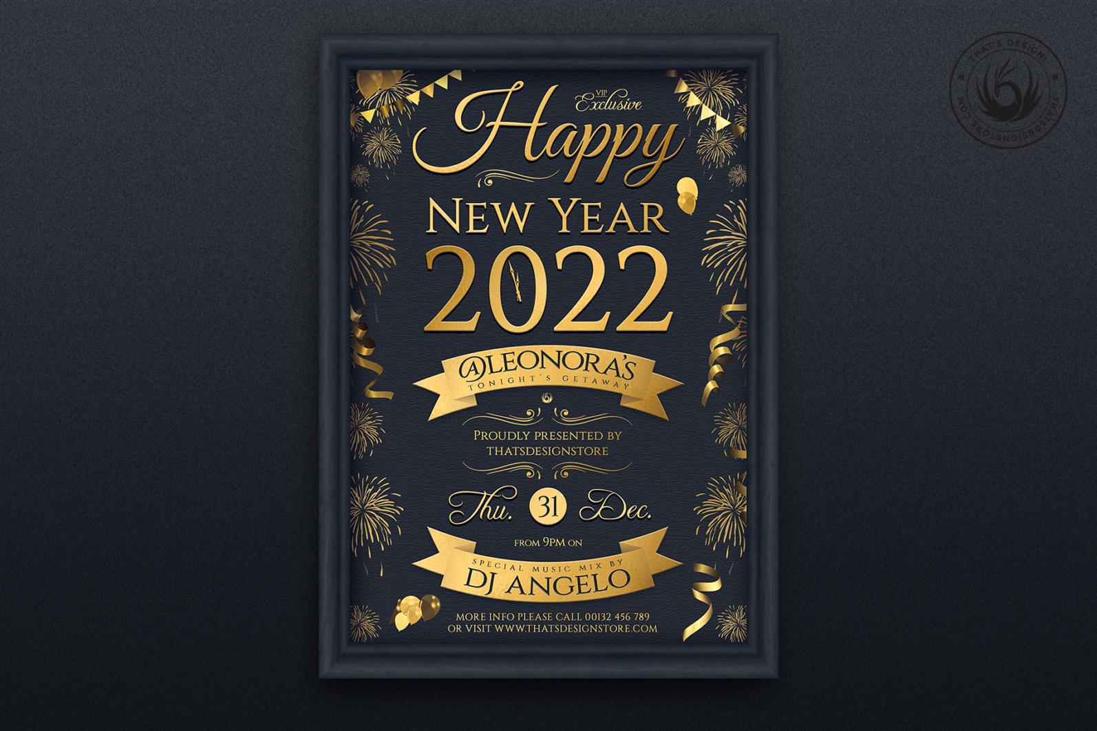 New Year Flyer Template V5 - 07 New Year Flyer Template V5 -