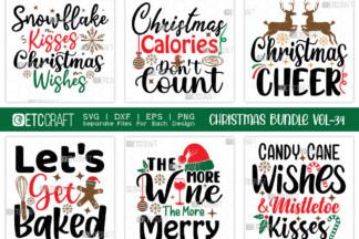 "<span style=""display: none"">SVG Bundles</span> - Christmas Bundle Vol 34 -"