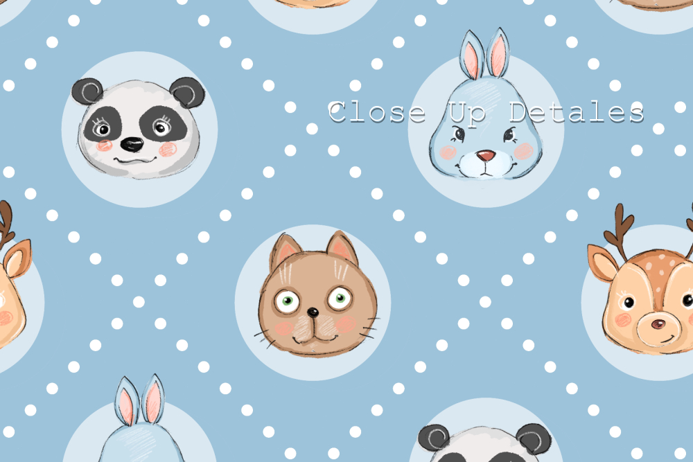Seamless pattern with cartoon animals. 2 colors - Cartoon animals. 2 patterns B02 -