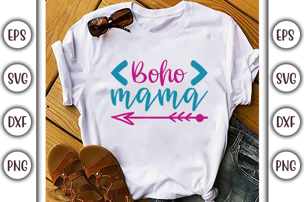 Boho T-shirt Design, boho mama - 2 15 -