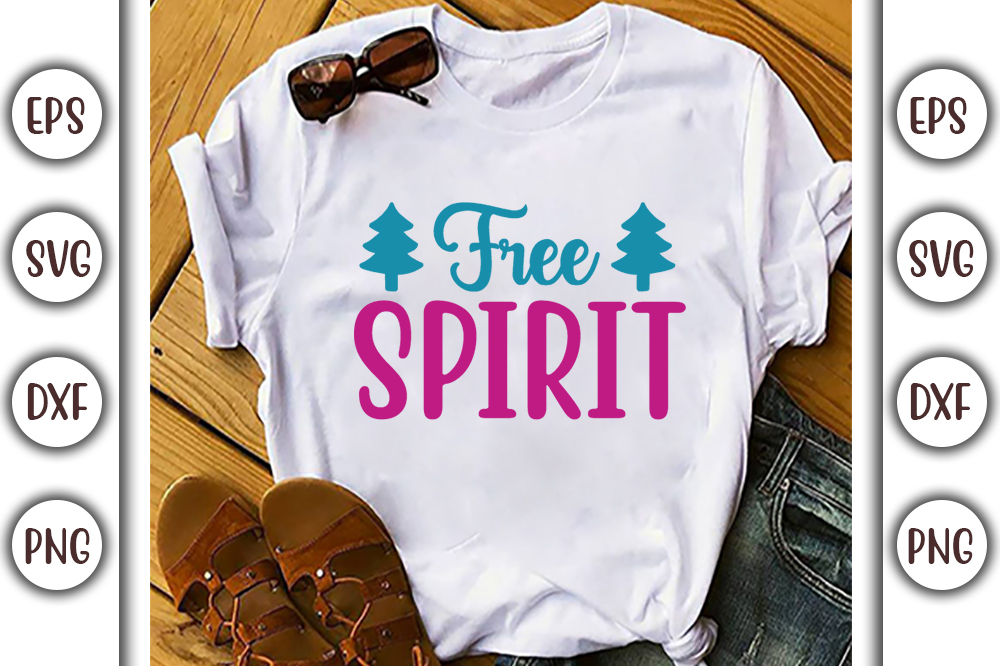 Boho T-shirt Design, free spirit - 3 18 -