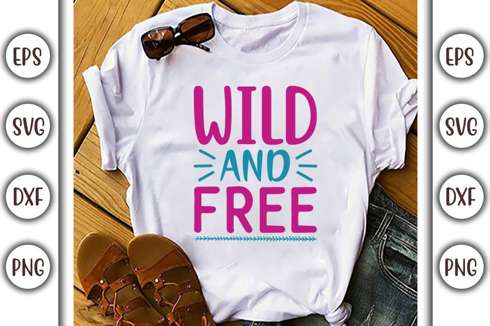 Boho T-shirt Design, wild and free - 5 14 -