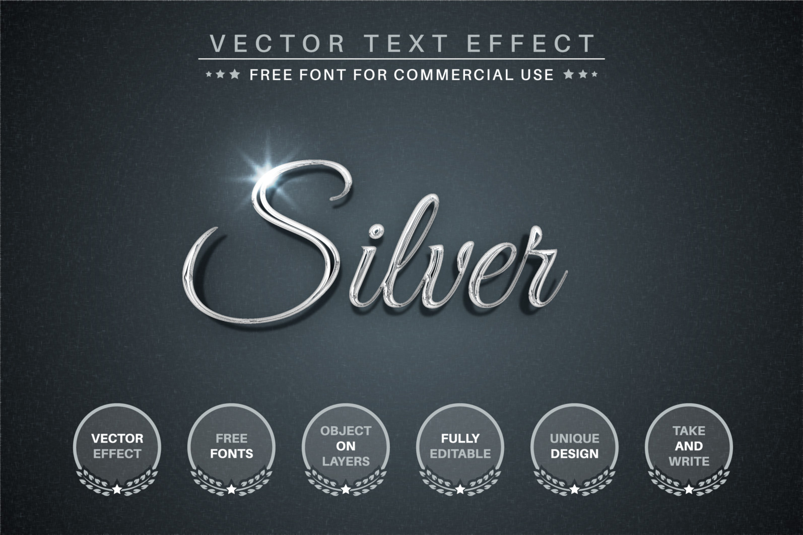 Silver - Editable Text Effect, Font Style - 336 silver EE 2340X1560 -