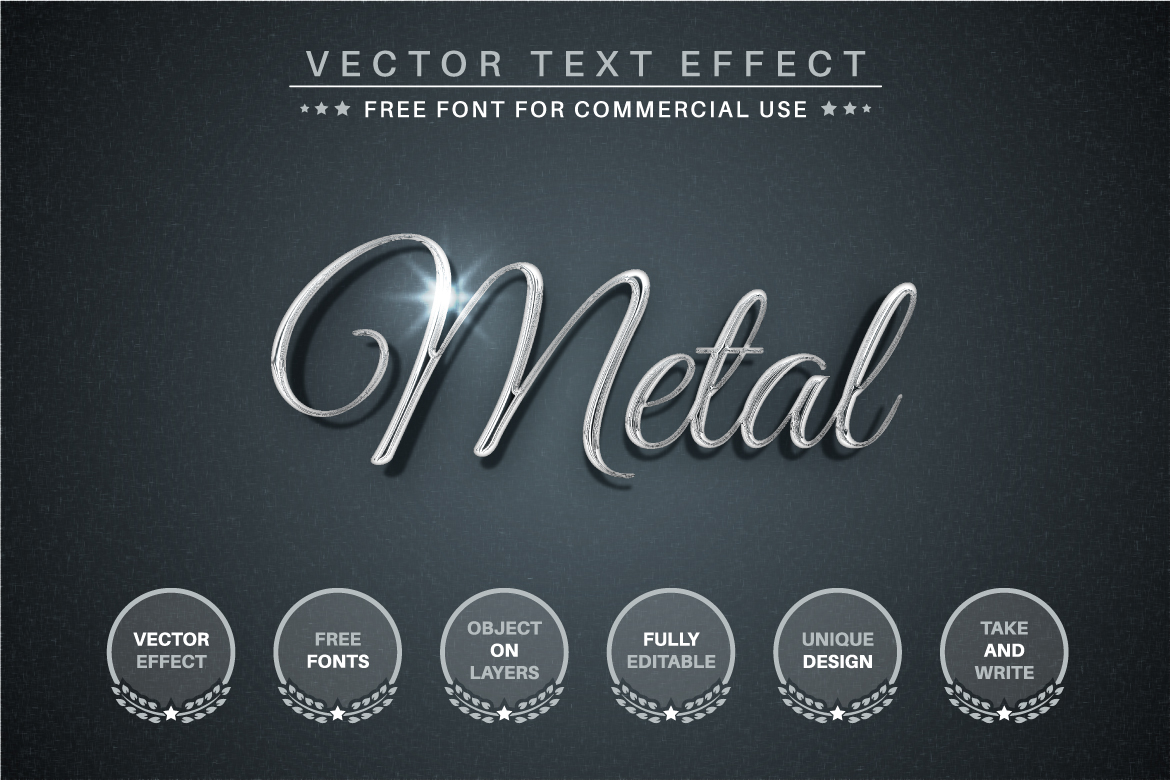 Silver - Editable Text Effect, Font Style - b 2 -