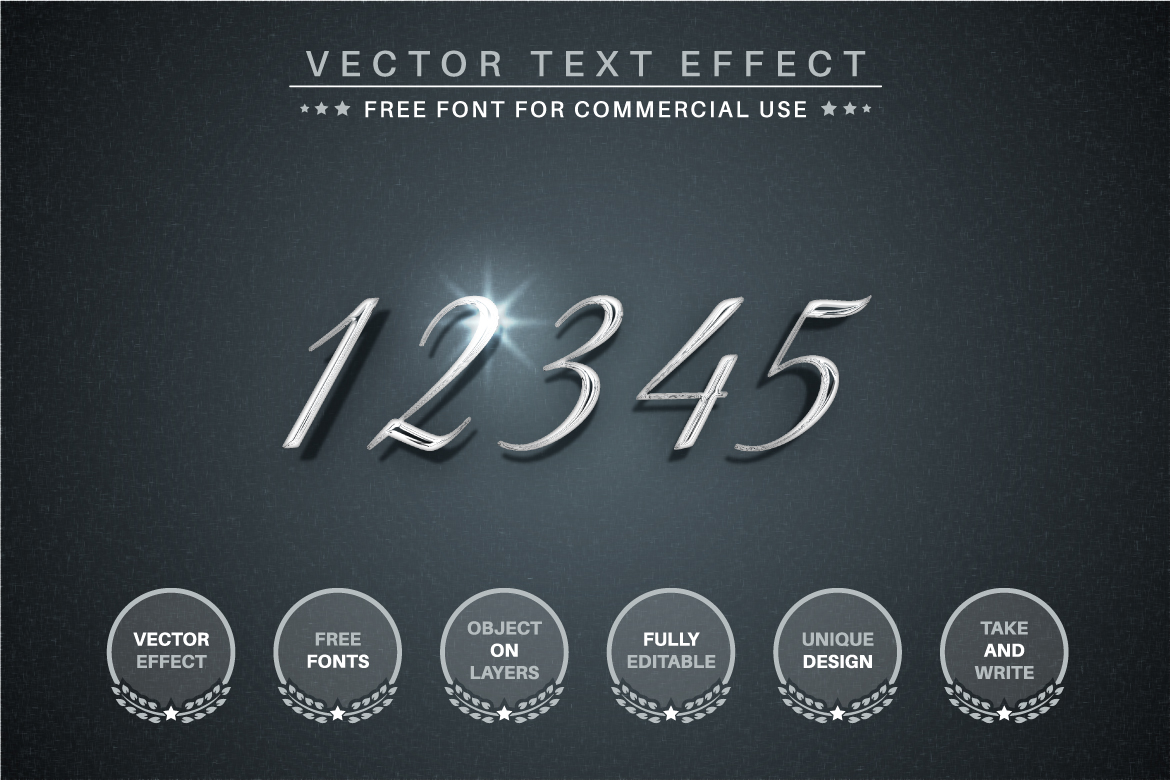 Silver - Editable Text Effect, Font Style - c 2 -