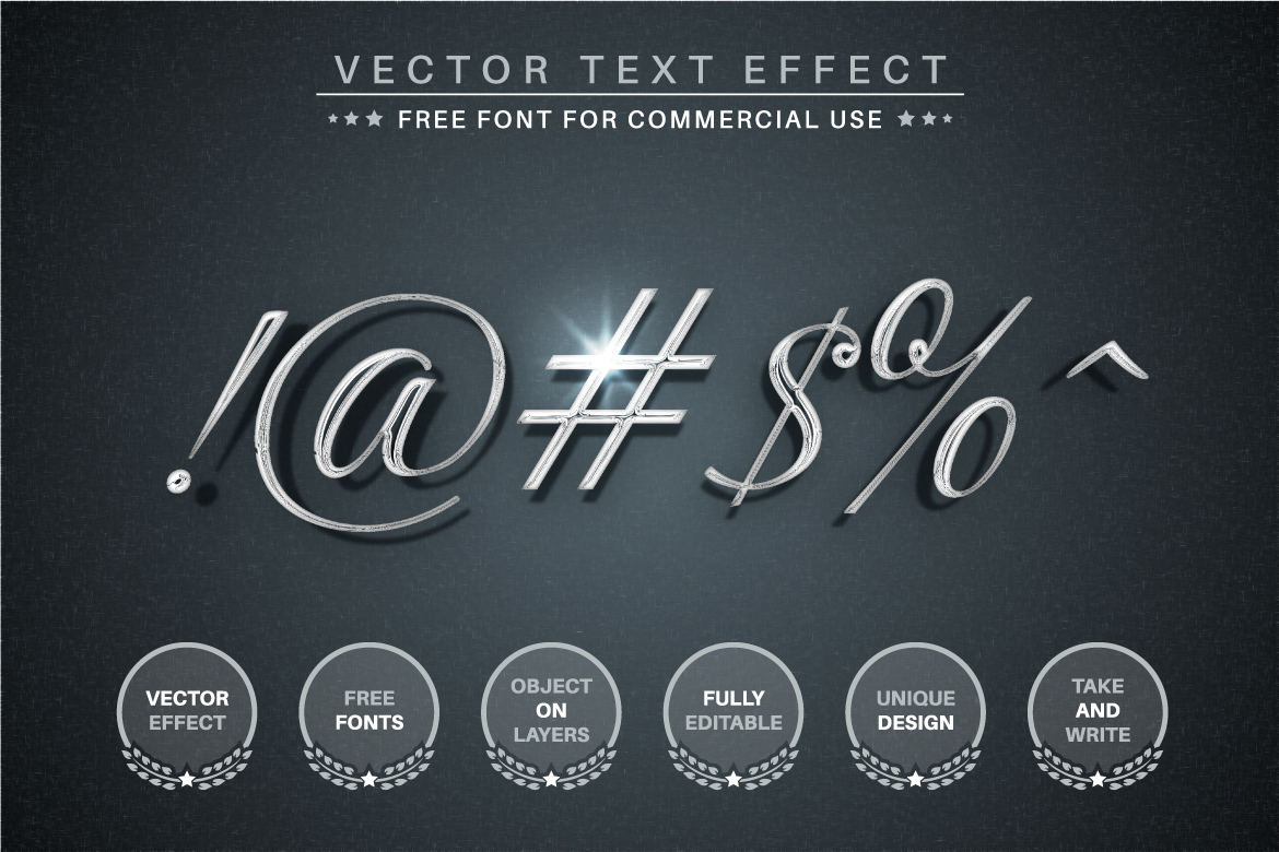 Silver - Editable Text Effect, Font Style - d 2 -