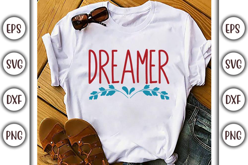 Boho T-shirt Design, dreamer - 7 15 -