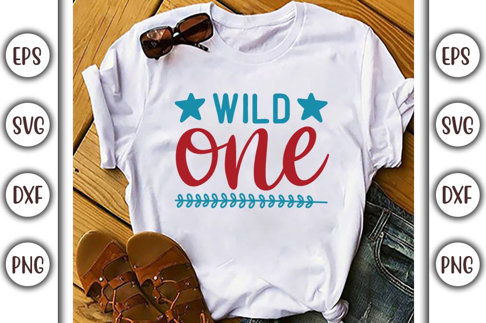 Boho T-shirt Design, wild one - 9 6 -