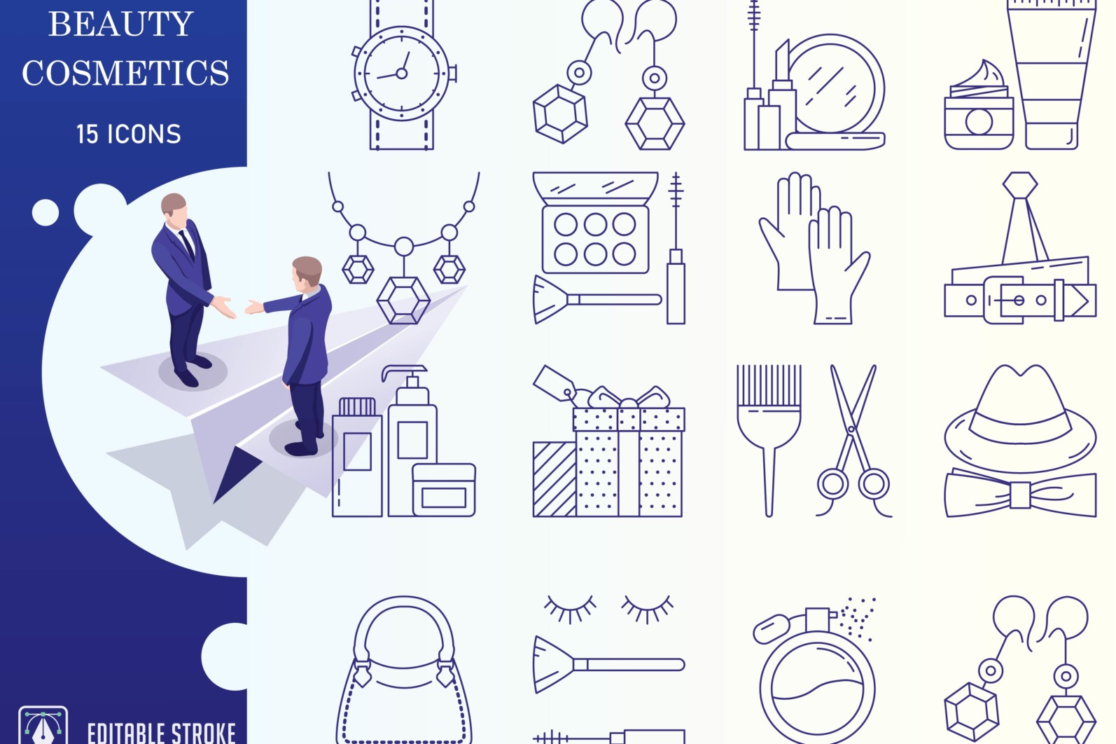 Outline : Shopping and E-commerce - beuaty and accisoires Iconset 01 scaled -
