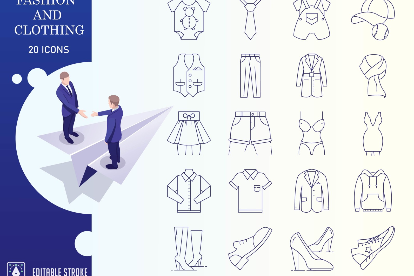 Outline : Shopping and E-commerce - Fashion and clothing 01 scaled -