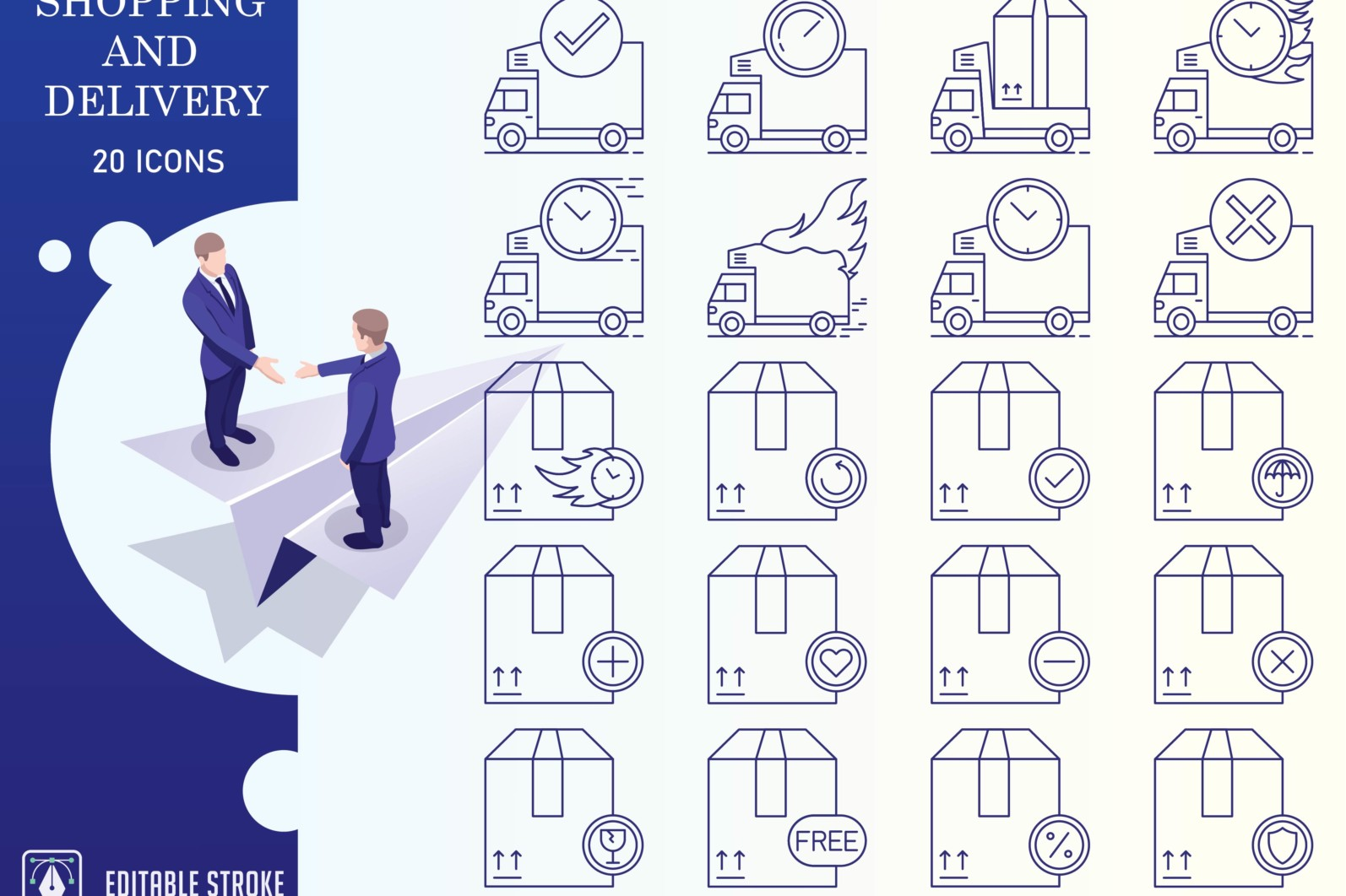 Outline : Shopping and E-commerce - Online Shopping Iconset 01 scaled -