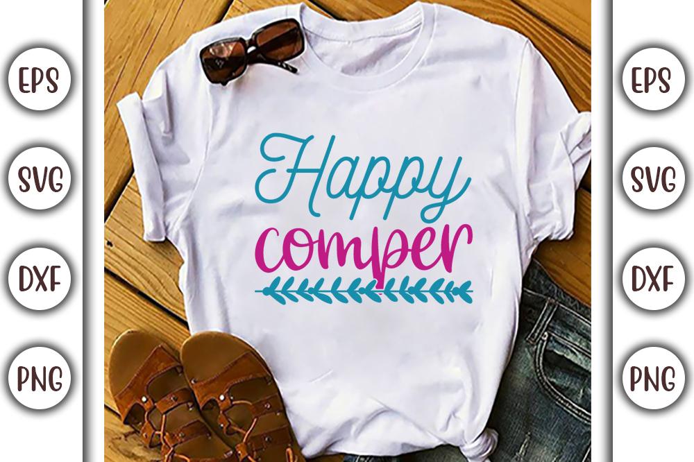Boho T-shirt Design, happy comper - 12 2 -