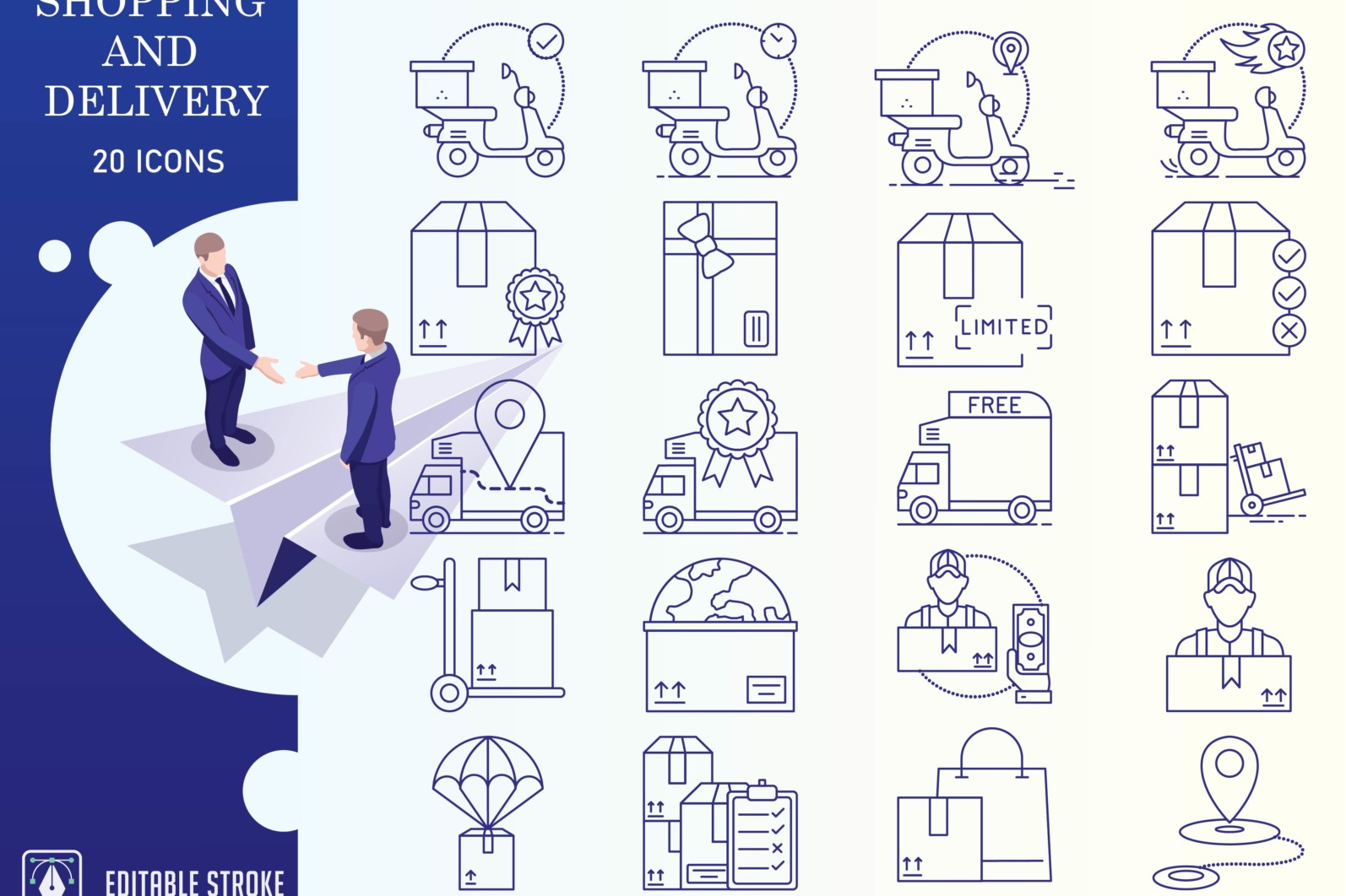 Outline : Shopping and E-commerce - Online Shopping Iconset 01 1 scaled -