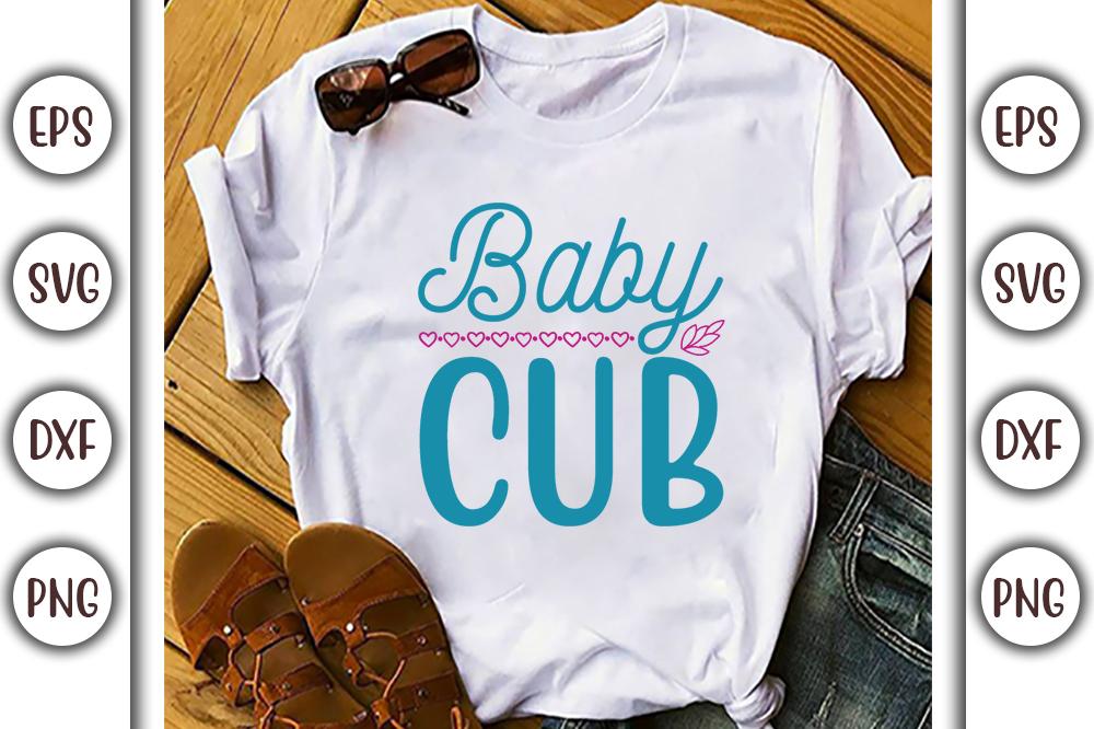 Boho T-shirt Design, baby cub - 13 2 -