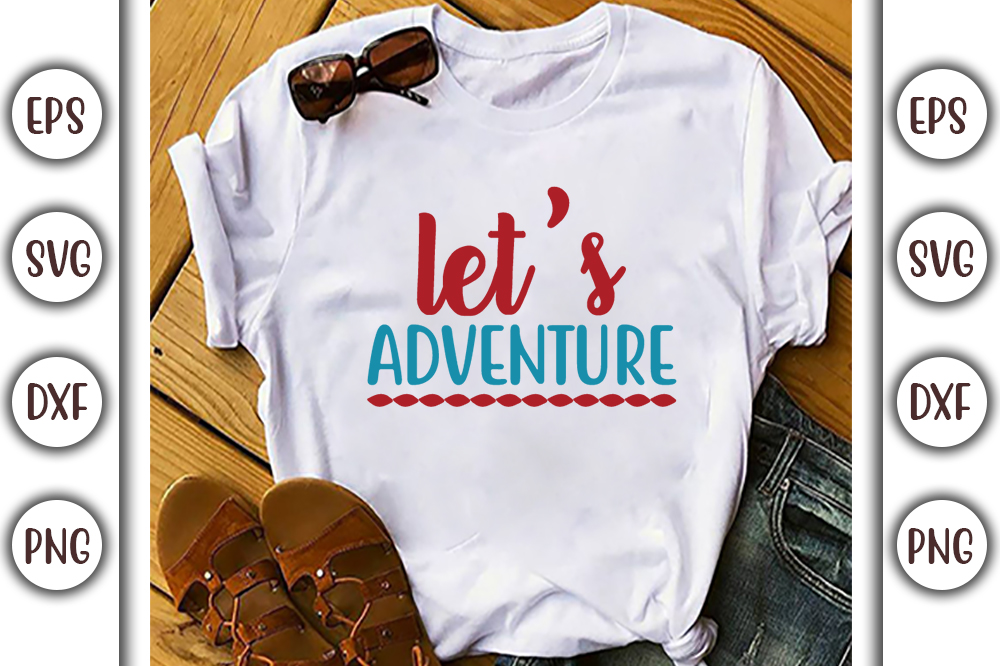 Boho T-shirt Design, let's adventure - 17 1 -