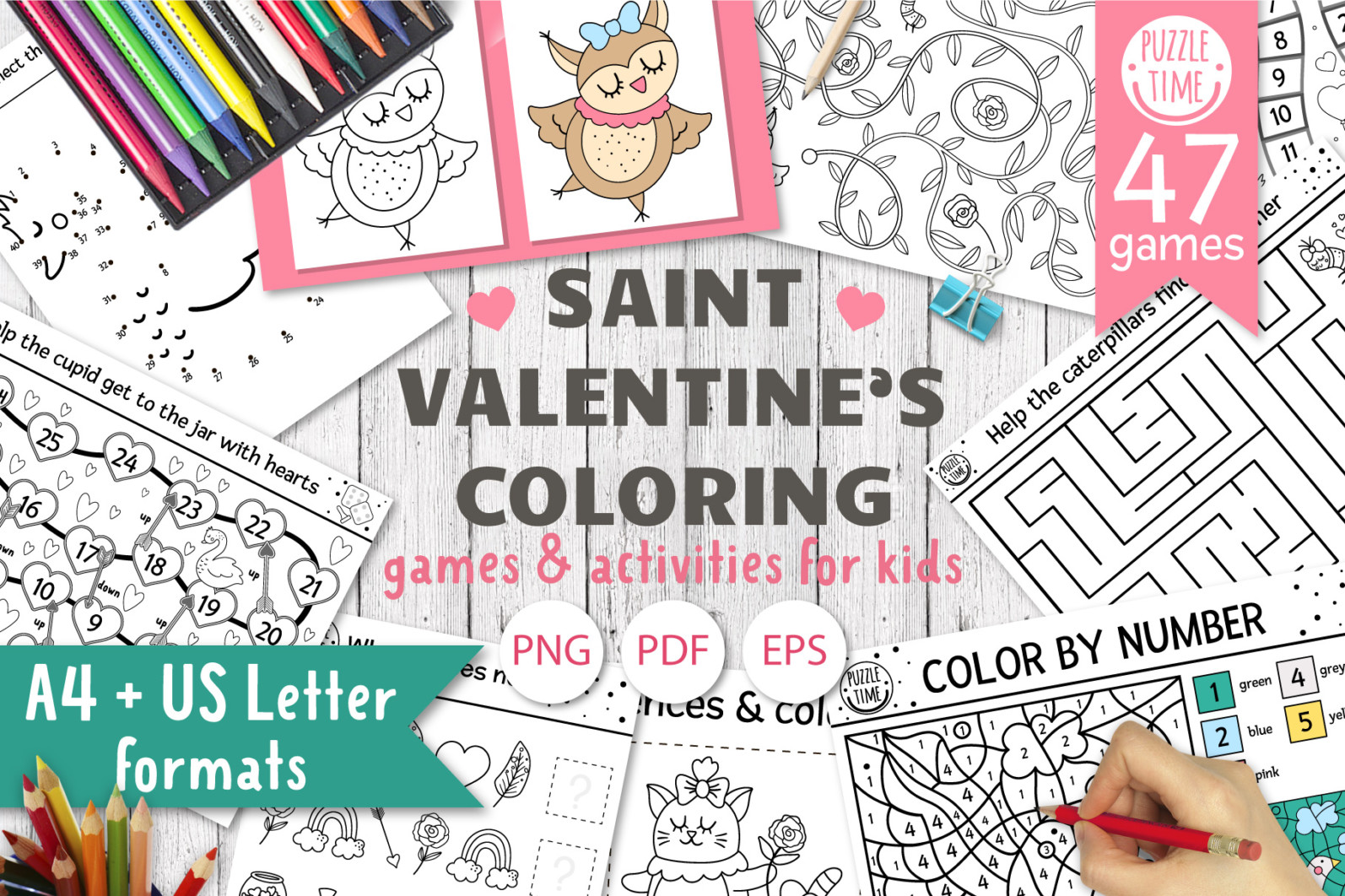 Saint Valentine's Coloring Games - 1 19 -