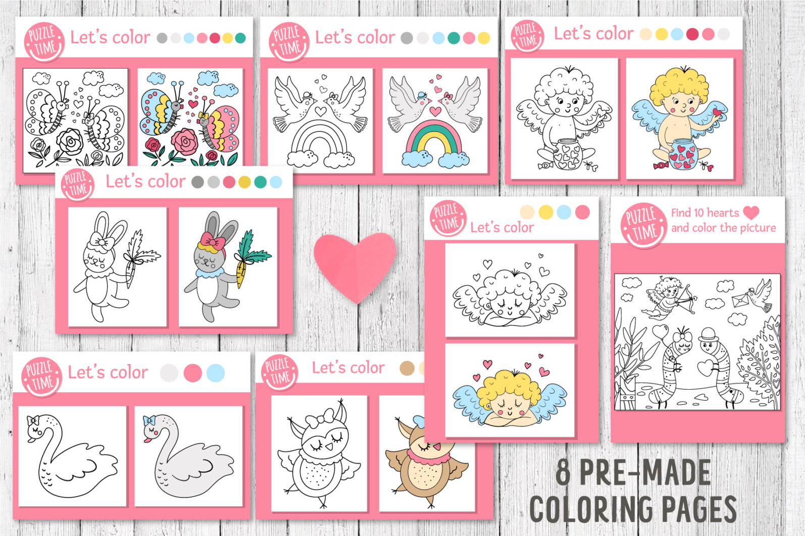 Saint Valentine's Coloring Games - 6 15 -