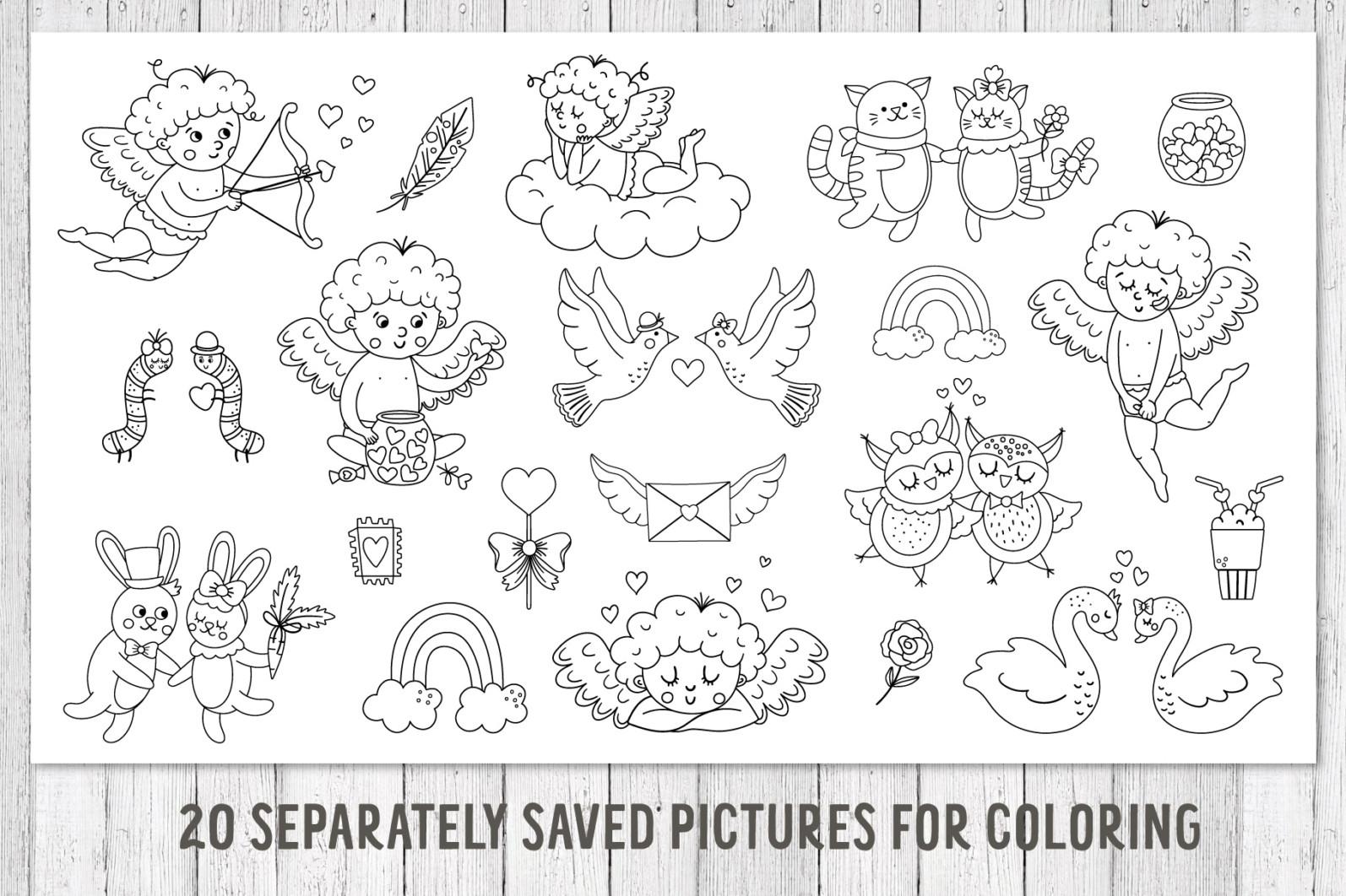 Saint Valentine's Coloring Games - 10 7 -