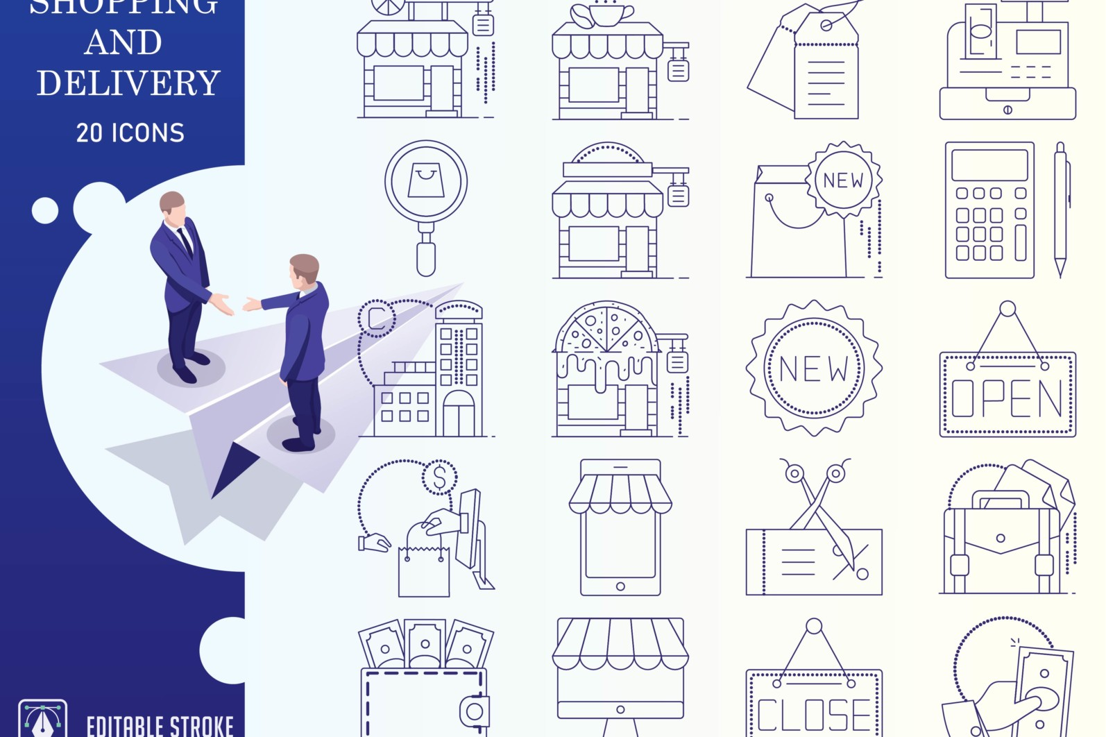 Outline : Shopping and E-commerce - Online Shopping Iconset 01 2 scaled -