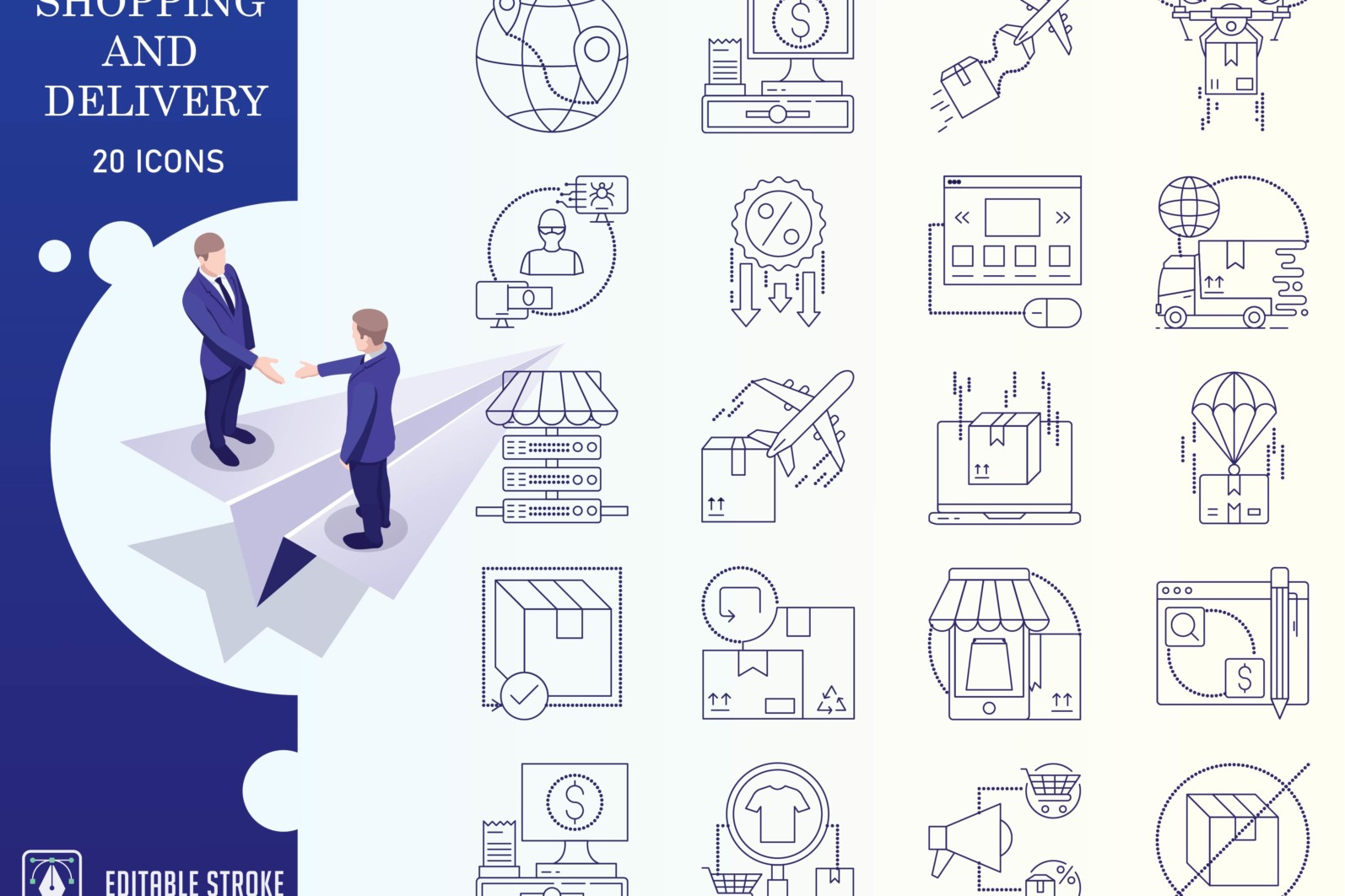 Outline : Shopping and E-commerce - Online Shopping Iconset 01 3 scaled -