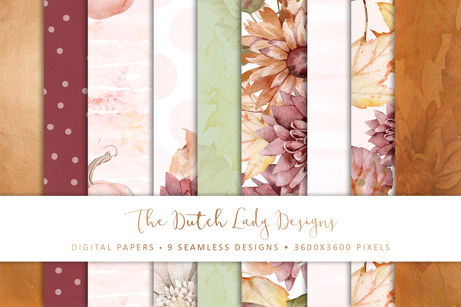 Digital Backgrounds & Scrapbook Papers - Seamless Patterns - Happy Fall - seamless pattern for commercial use -