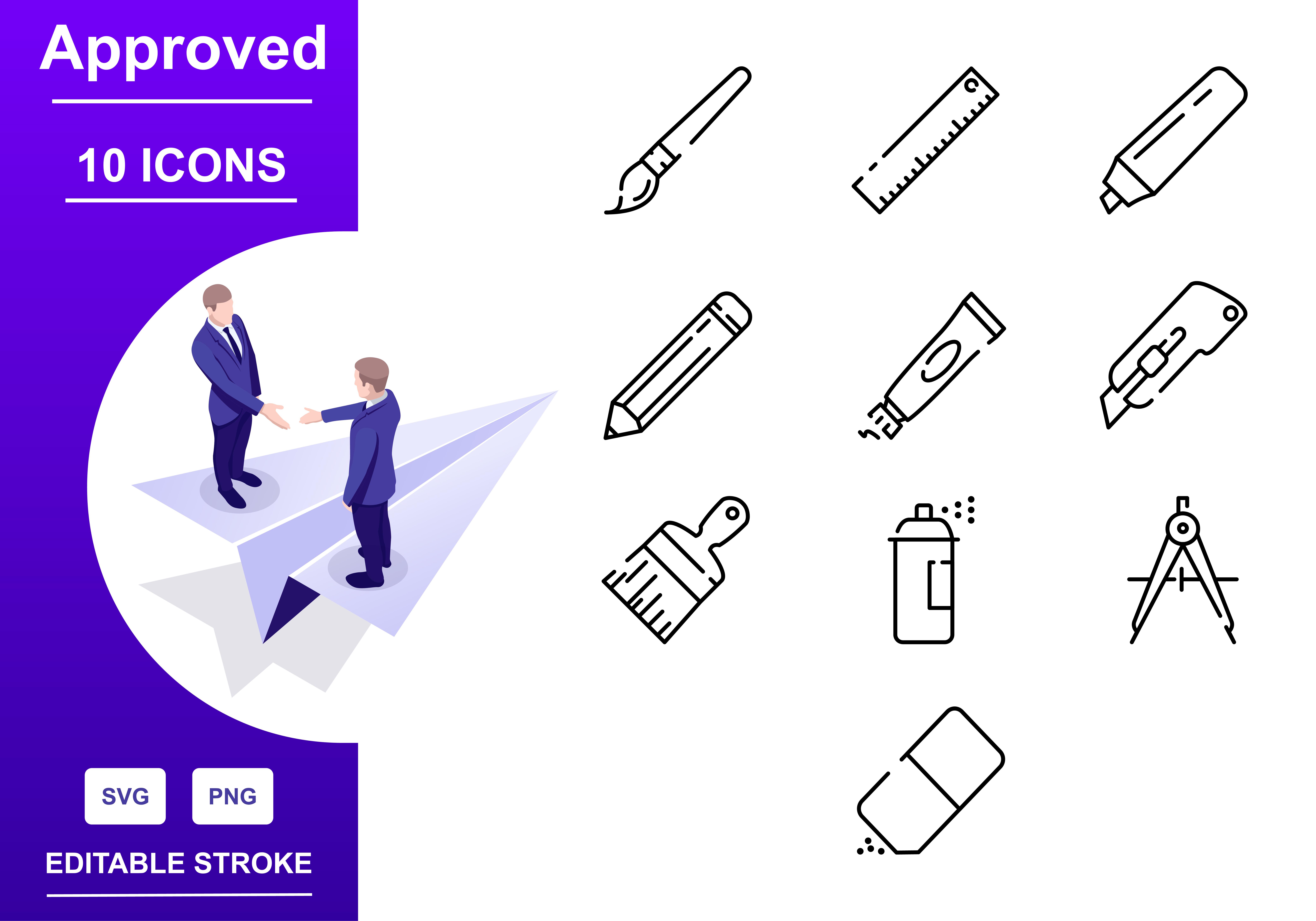 Outline : Write Tool Icon set - write Iconset outline 01 -