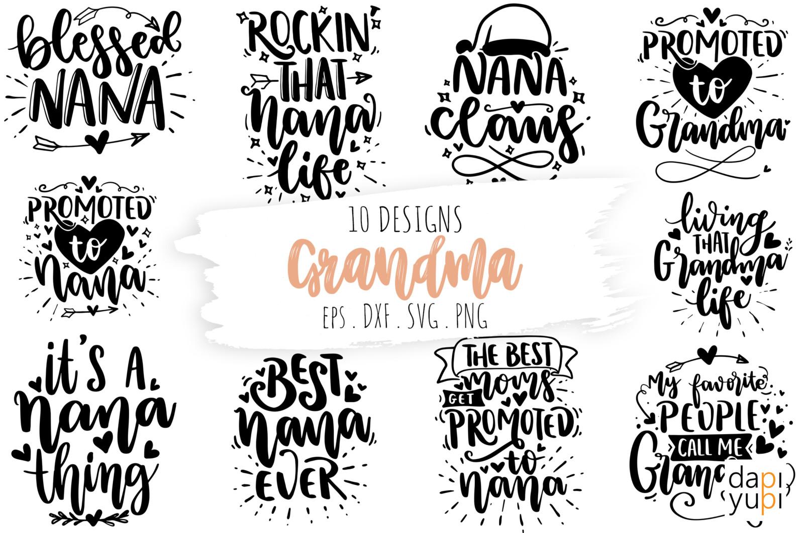 Grandma Quotes Bundle, Nana Quotes SVG Bundle, Nana SVG - nana -