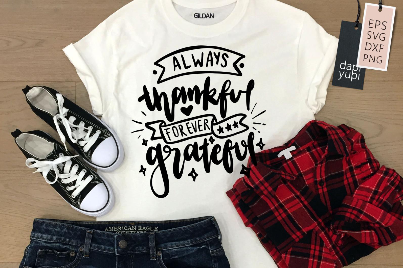Gratitude Lettering Quotes Bundle Grateful SVG - grateful1 -