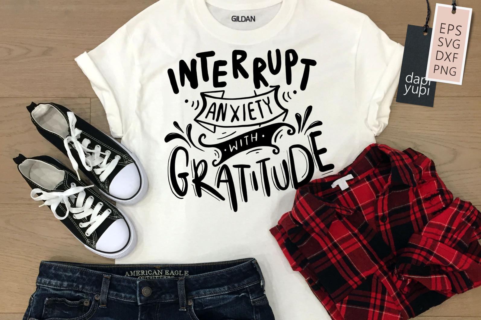 Gratitude Lettering Quotes Bundle Grateful SVG - grateful6a -
