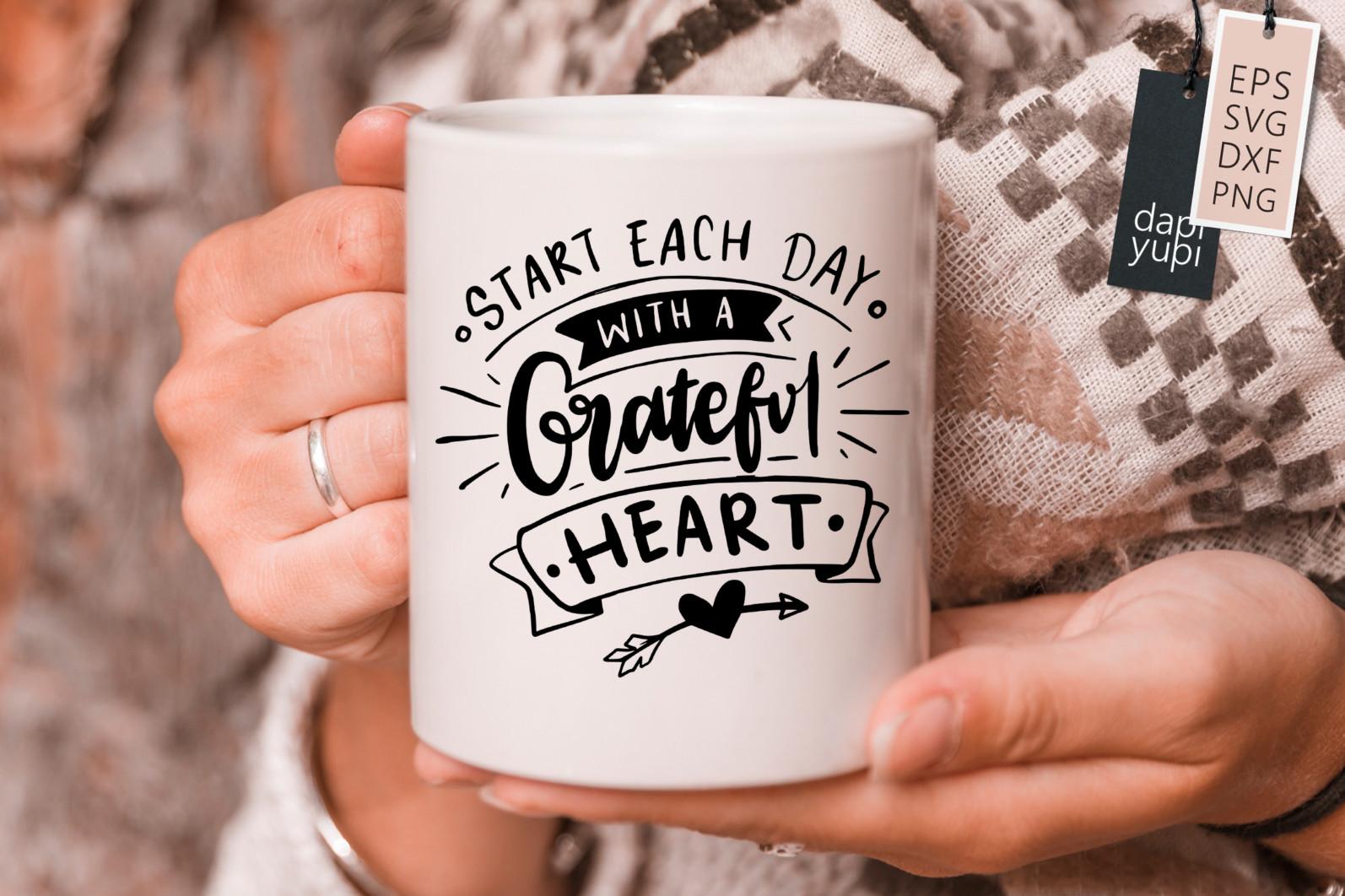 Gratitude Lettering Quotes Bundle Grateful SVG - grateful7s -