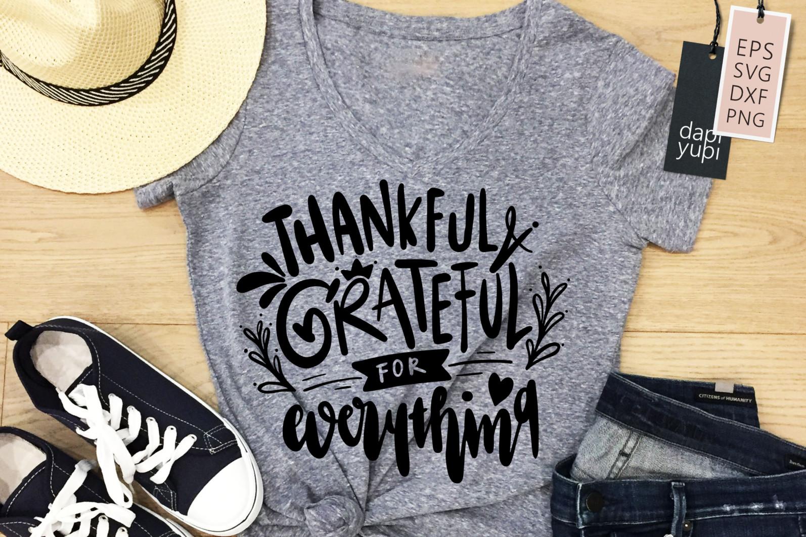 Gratitude Lettering Quotes Bundle Grateful SVG - grateful8a -