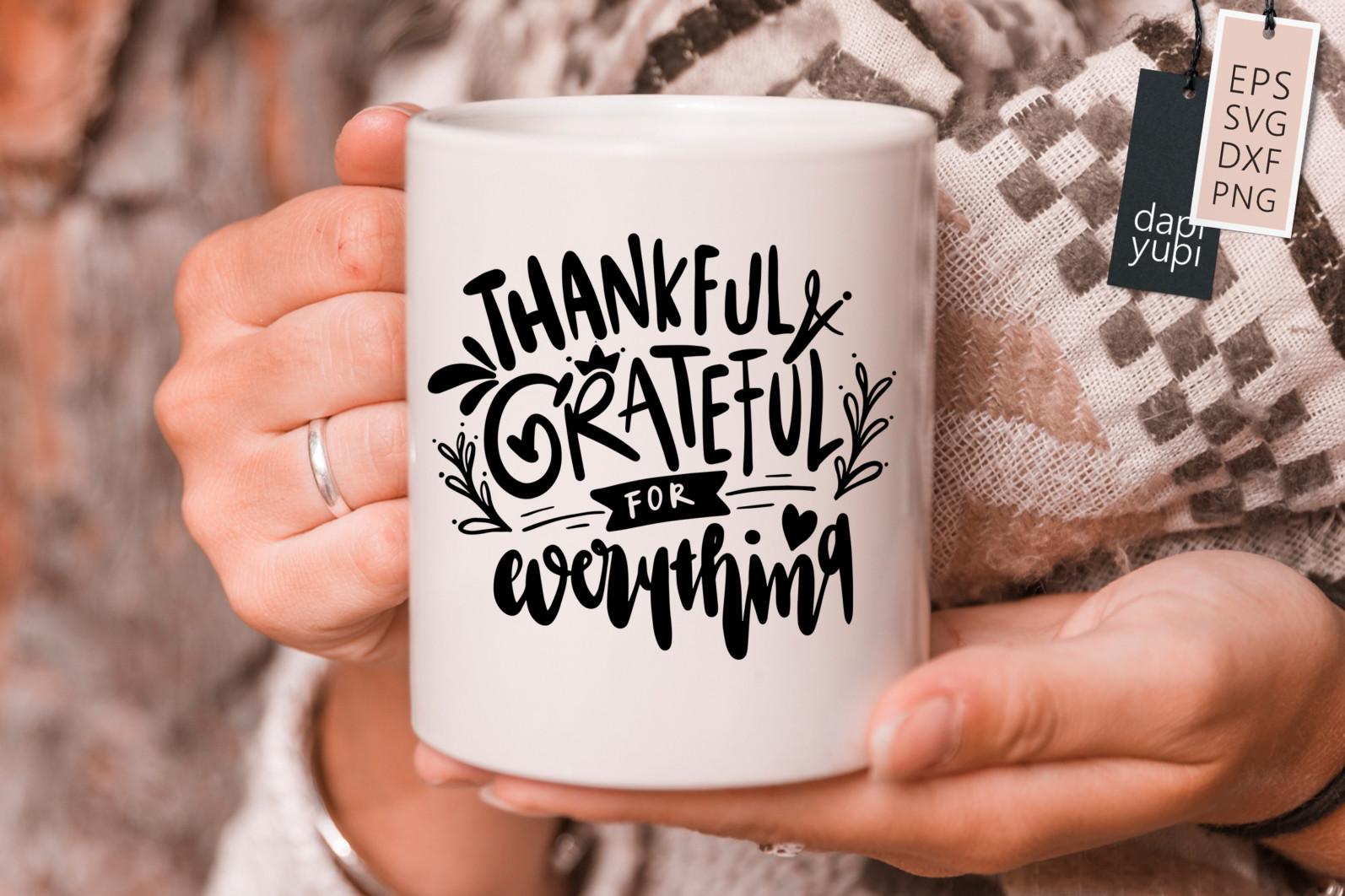 Gratitude Lettering Quotes Bundle Grateful SVG - grateful8s -