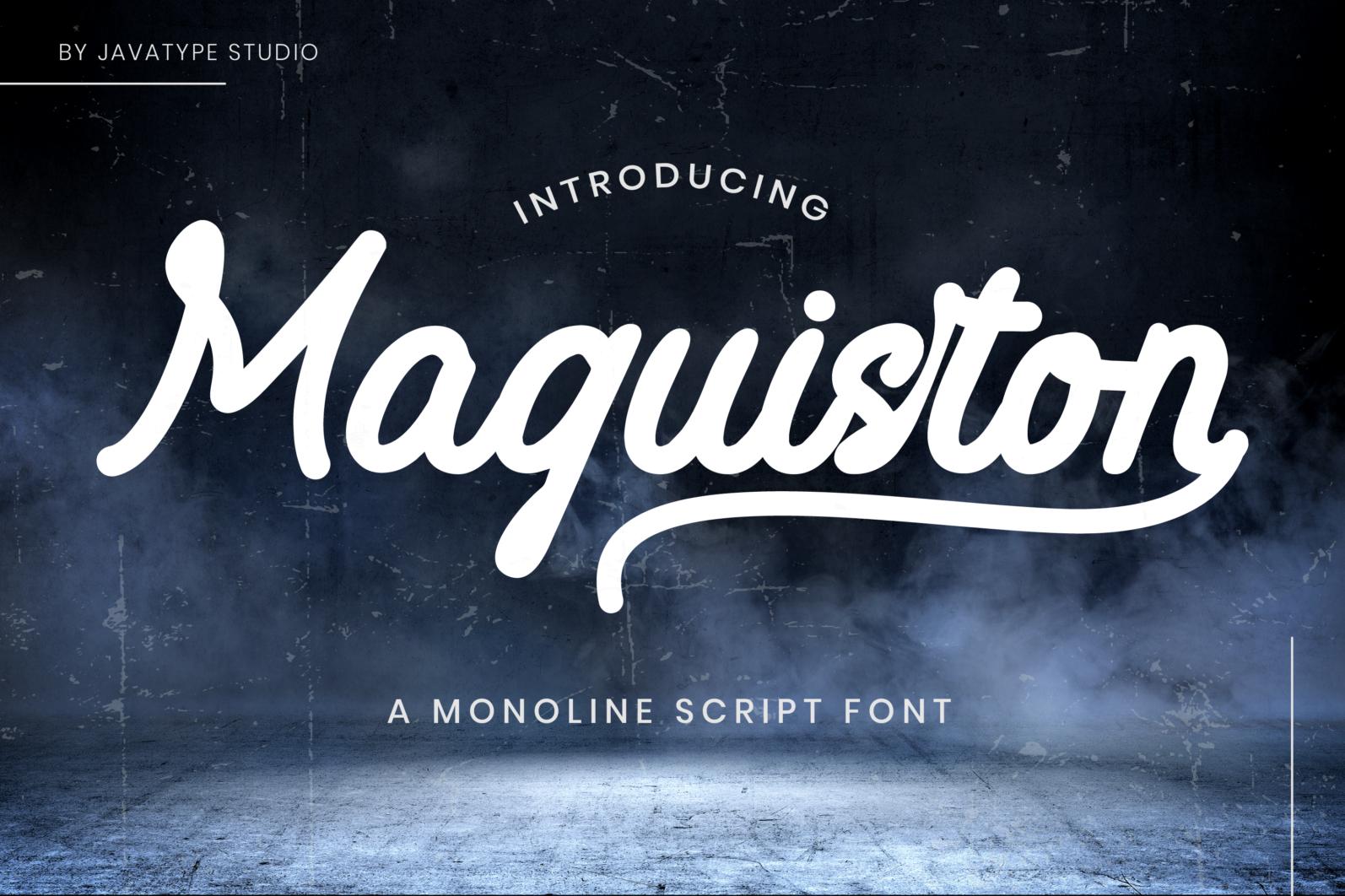 Maguiston a monoline script font - 01 preview1 -