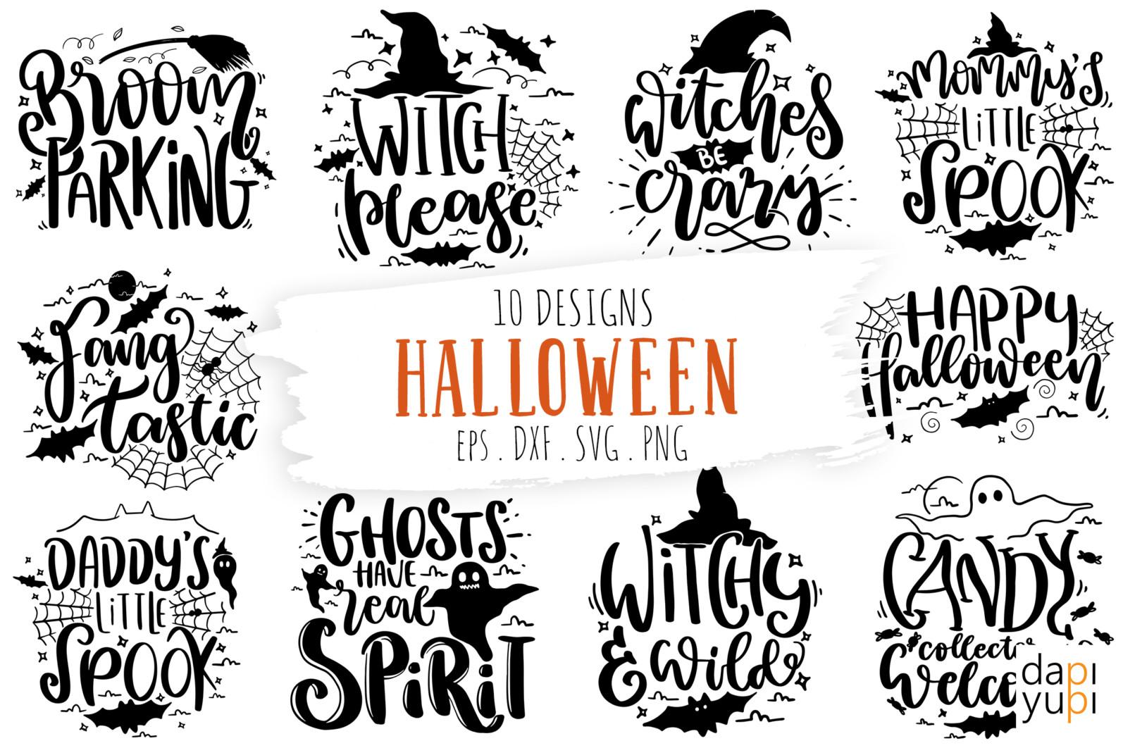 Halloween Quotes SVG Bundle Funny kids Halloween shirt decal SVG - halloween -