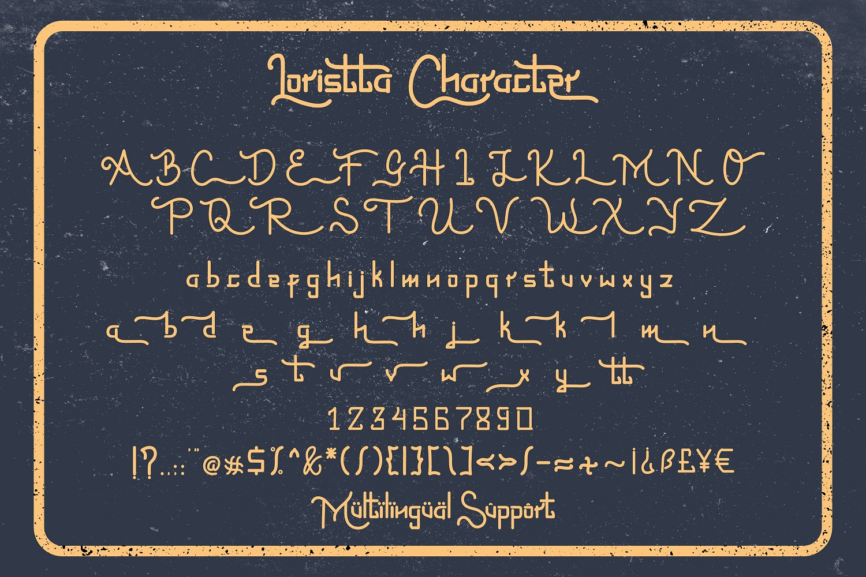 Loristta a Modern Monoline Font - 09 preview9 -